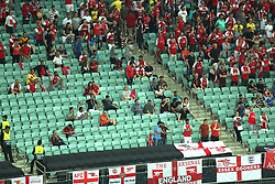 Empty seats in the Arsenal section of the stands during the UEFA Europa League final at The Olympic Stadium, Baku, Azerbaijan.