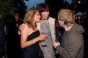 TRACEY EMIN; JANET STREET-PORTER; GARY INDIANA, The Summer party 2011 co-hosted by Burberry. The Summer pavilion designed by Peter Zumthor. Serpentine Gallery. Kensington Gardens. London. 28 June 2011. <br /> <br />  , -DO NOT ARCHIVE-© Copyright Photograph by Dafydd Jones. 248 Clapham Rd. London SW9 0PZ. Tel 0207 820 0771. www.dafjones.com.