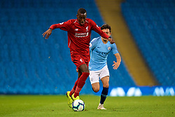 MANCHESTER, ENGLAND - Friday, August 24, 2018: Liverpool's Rafael Camacho during the Under-23 FA Premier League 2 Division 1 match between Manchester City FC and Liverpool FC at the City of Manchester Stadium. (Pic by David Rawcliffe/Propaganda)