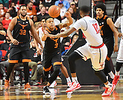 LUBBOCK, TX - MARCH 1: Jacob Young #3 of the Texas Longhorns grabs the loose ball during the game against the Texas Tech Red Raiders on March 1, 2017 at United Supermarkets Arena in Lubbock, Texas. Texas Tech defeated Texas 67-57. (Photo by John Weast/Getty Images) *** Local Caption *** Jacob Young