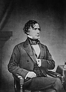 Franklin Pierce (1804-1869) American Democrat politician and lawyer, 14th President of the United States 1853-1857.    From a photograph by Matthew Brady, 1850s.
