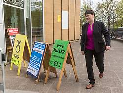 Scottish Conservative and Unionist Leader, Ruth Davidson casts her vote in the Local Council Elections<br /> <br /> Local Government Elections are taking place throughout Scotland to decide which parties will control the local councils.