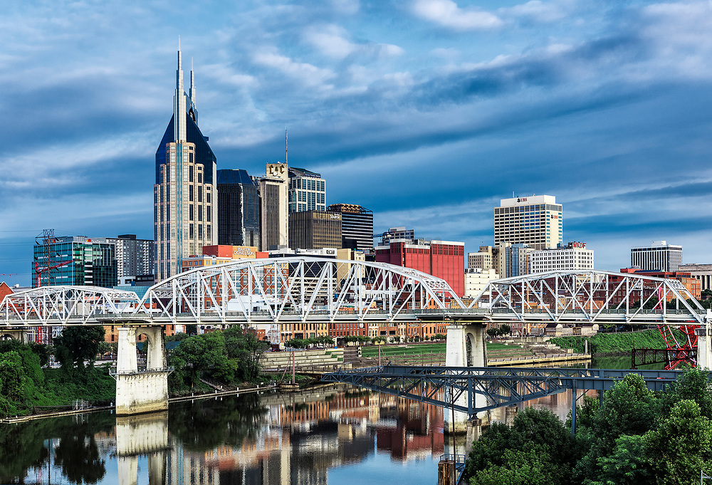 Nashville city skyline, Tennessee, USA.