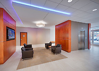 Lobby interior of One Bank Street Office Building in Gaithersburg Maryland by Jeffrey Sauers of Commercial Photographics, Architectural Photo Artistry in Washington DC, Virginia to Florida and PA to New England