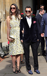 Fashion designer Matthew Williamson  arriving at  Poppy Delevigne's wedding at St.Paul's Church in Knightsbridge, London , Friday, 16th May 2014. Picture by Stephen Lock / i-Images