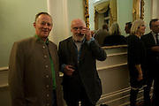 PETER CAREW; DAVID KIRKE, Party to celebrate the publication of 'Along the Enchanted Way' by William Blacker. Hosted by the Blacker family. 2 Belgrave Sq. London. 12 November 2009.