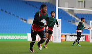 Amanaki Mafi of Japan during the Japan Captain's Run training session in preparation for the Rugby World Cup at the American Express Community Stadium, Brighton and Hove, England on 18 September 2015.