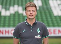 German Soccer Bundesliga 2015/16 - Photocall of Werder Bremen on 10 July 2015 in Bremen, Germany:  Physiotherapist Florian Lauerer