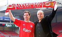 LIVERPOOL, ENGLAND - MONDAY, JANUARY 30th, 2006: Liverpool's new signing Robbie Fowler at a press conference at Anfield following his free transfer from Manchester City back to his home town club. (Pic by David Rawcliffe/Propaganda)