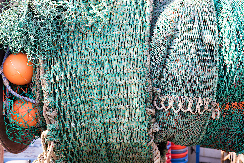 fishing nets on a dock in The Hamptons