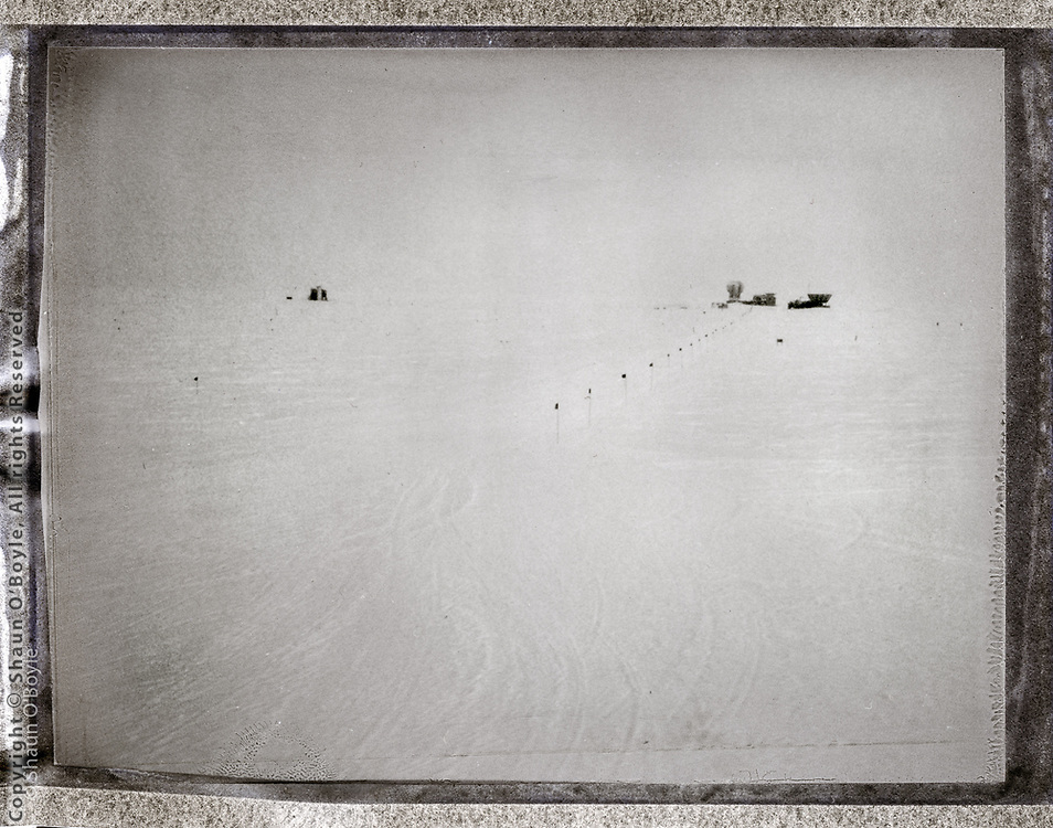 Dark Sector from South Pole Station. Polaroid camera with Fuji instant film.