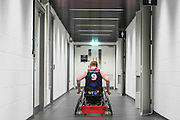 UNITED KINGDOM, London: 2015 World Wheelchair Rugby Challenge. Caption: Jim Roberts of Great Britain heads back to the changing rooms after winning their final game against France to finish fifth in the World Wheelchair Rugby Championships. Rick Findler / Story Picture Agency