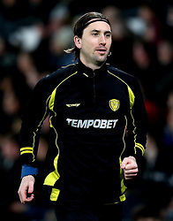 Shaun Barker of Burton Albion warms while his team play <br /> his old club Derby County - Mandatory by-line: Robbie Stephenson/JMP - 21/02/2017 - FOOTBALL - iPro Stadium - Derby, England - Derby County v Burton Albion - Sky Bet Championship