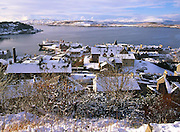 Winter view of Oban from McCaigs Tower, Argyll