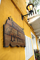 The exterior and sign to La Vitrola, a popular restaurant in Cartagena's old city, on Thursday, August 21, 2008. (Photo/Scott Dalton)