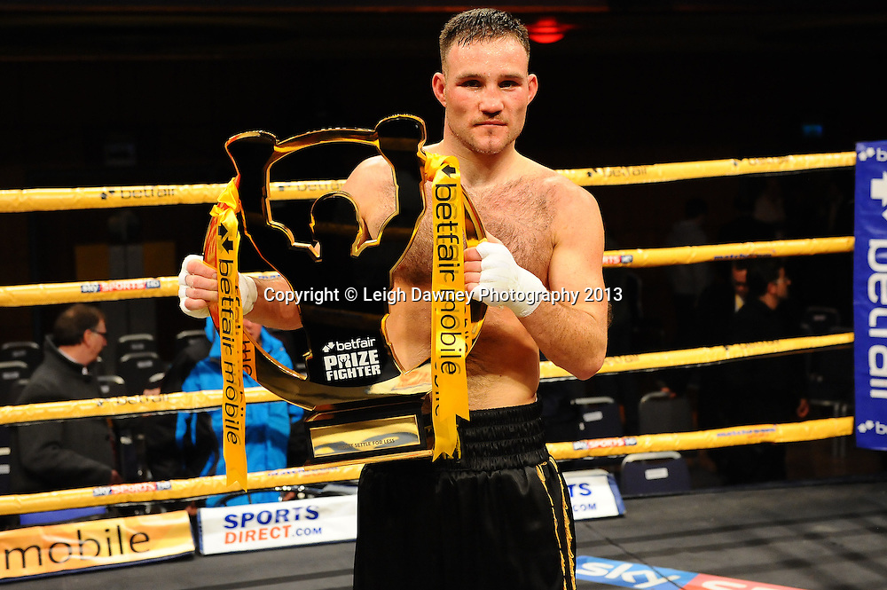 Glenn Foot defeats Dale Evans claiming the Prizefighter Title at Prizefighter The Welterweights 111, Civic Hall Wolverhampton. on the 19th January 2013. Matchroom Sport/ Prizefighter © Leigh Dawney 2013