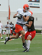 BEREA, OH - AUGUST 3:  Free agent wide receiver Joe Jurevicius #84 of the Cleveland Browns catches a pass during training camp at the Cleveland Browns Training and Administrative Complex on August 3, 2006 in Berea, Ohio. ©Paul Anthony Spinelli *** Local Caption *** Joe Jurevicius