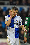 A dissapointed Bristol Rovers Defender, Tom Lockyer (4) after scoring an own goal 1-1 during the EFL Sky Bet League 1 match between Bristol Rovers and Scunthorpe United at the Memorial Stadium, Bristol, England on 25 February 2017. Photo by Adam Rivers.
