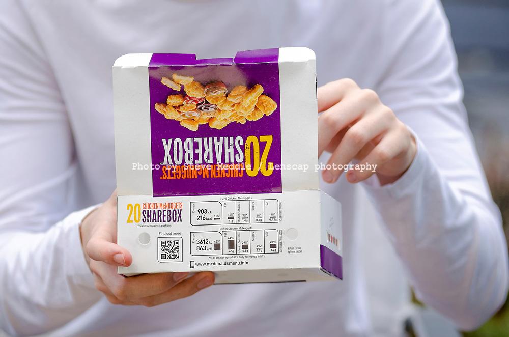 London England May 30 2017 Box Of Mcdonalds Chicken Mcnuggets