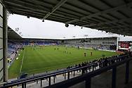 General view of the Halliwell Jones Stadium, prior to the Ladbrokes Challenge Cup, Quarter Final match between Warrington Wolves and Wigan Warriors, Warrington.<br /> Picture by Michael Sedgwick/Focus Images Ltd +44 7900 363072<br /> 02/06/2018