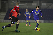 AFC Wimbledon midfielder Jake Reeves (8) during the EFL Trophy match between AFC Wimbledon and U23 Brighton and Hove Albion at the Cherry Red Records Stadium, Kingston, England on 6 December 2016. Photo by Stuart Butcher.