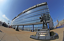 """Feb 23; St. Louis, MO, USA; Atmosphere shot of the Scottrade Center during the final press conference for the February 25, 2012 fight card """"Arch Enemies"""".  Mandatory Credit: Ed Mulholland"""