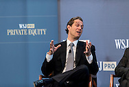 Eric Zinterhofer of<br /> Searchlight Capital Partners speaking at The WSJpro Private Equity event in New York City on April 29, 2016. (photo by Gabe Palacio)