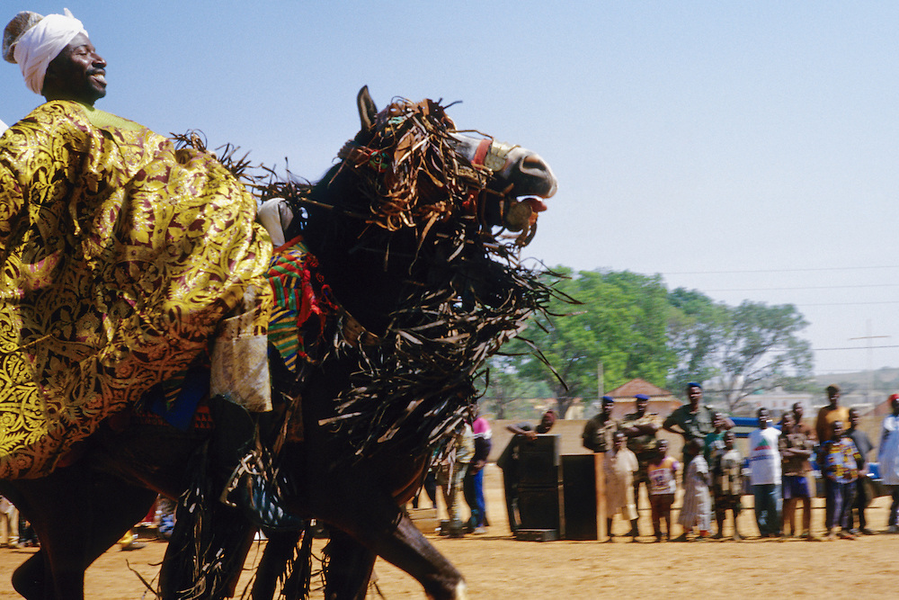 Enthronement of the king of Bariba. The traditional Gaani festival. Prince Moussa Atta from Djougou.<br />   <br /> Intronisation du roi des Bariba. La f&ecirc;te traditionnelle de la Gaani. Le prince Moussa Atta de Djougou.