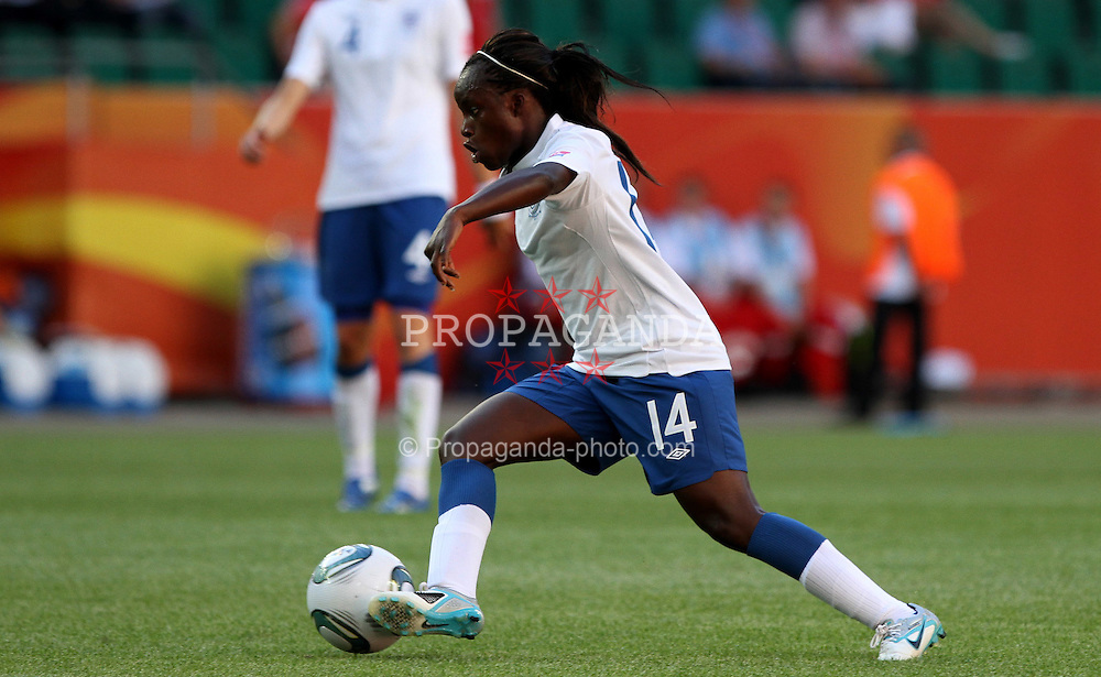 27.06.2011, Arena im Allerpark Wolfsburg , Wolfsburg ,  GER, FIFA Women Worldcup 2011, Gruppe B ,   Mexico (MEX) vs. England (ENG). im Bild Eniola Aluko  (ENG) during the FIFA Women Worldcup 2011, Pool B, Mexico vs England on 2011/06/26, Arena im Allerpark , Wolfsburg, Germany.  .EXPA Pictures © 2011, PhotoCredit: EXPA/ nph/  Hessland       ****** out of GER / SWE / CRO  / BEL ******