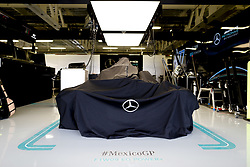 October 25, 2018 - Mexico-City, Mexico - Motorsports: FIA Formula One World Championship 2018, Grand Prix of Mexico, .Garage of Mercedes AMG Petronas Motorsport  (Credit Image: © Hoch Zwei via ZUMA Wire)