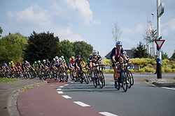 Tayler Wiles leads the peloton at Boels Rental Ladies Tour Stage 4 a 121.4 km road race from Gennep to Weert, Netherlands on September 1, 2017. (Photo by Sean Robinson/Velofocus)