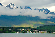 Alaska. Haines. Inside Passage. Fort Seward on the Chilkoot Inlet.