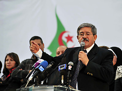 File photo of Ahmed Ouyahia during a meeting at the Salle Omnisports Hacene Harcha in Algiers, Algeria, on May 05, 2012. Founder and secretary-general of the National Rally for Democracy (RND), Ahmed Ouyahia named as new Algerian Prime Minister, replacing Abdelmadjid Tebboune after just three months on the job. Photo by Mohamed Kadri/Imagespic/ABACAPRESS.COM