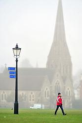 &copy; Licensed to London News Pictures.20/12/2017.<br /> Blackheath, UK.<br /> Misty wet and cold weather on Blackheath Common, Blackheath.<br /> Photo credit: Grant Falvey/LNP