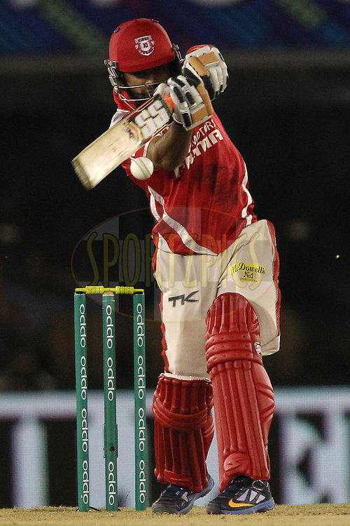 Manan VOHRA of the Kings XI Punjab  during match 5 of the Oppo Champions League Twenty20 between the Kings XI Punjab and the Barbados Tridents held at the Punjab Cricket Association Stadium, Mohali, India on the 20th September 2014<br /> <br /> Photo by:  Ron Gaunt / Sportzpics/ CLT20<br /> <br /> <br /> Image use is subject to the terms and conditions as laid out by the BCCI/ CLT20.  The terms and conditions can be downloaded here:<br /> <br /> http://sportzpics.photoshelter.com/gallery/CLT20-Image-Terms-and-Conditions-2014/G0000IfNJn535VPU/C0000QhhKadWcjYs