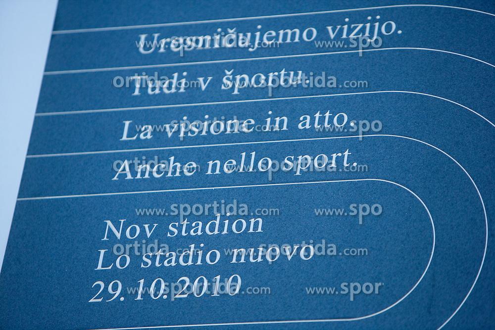 Last day of rebuilding the Bonifika football stadium, on October 29, 2010 in Koper - Capodistria, Slovenia. (Photo By Vid Ponikvar / Sportida.com)