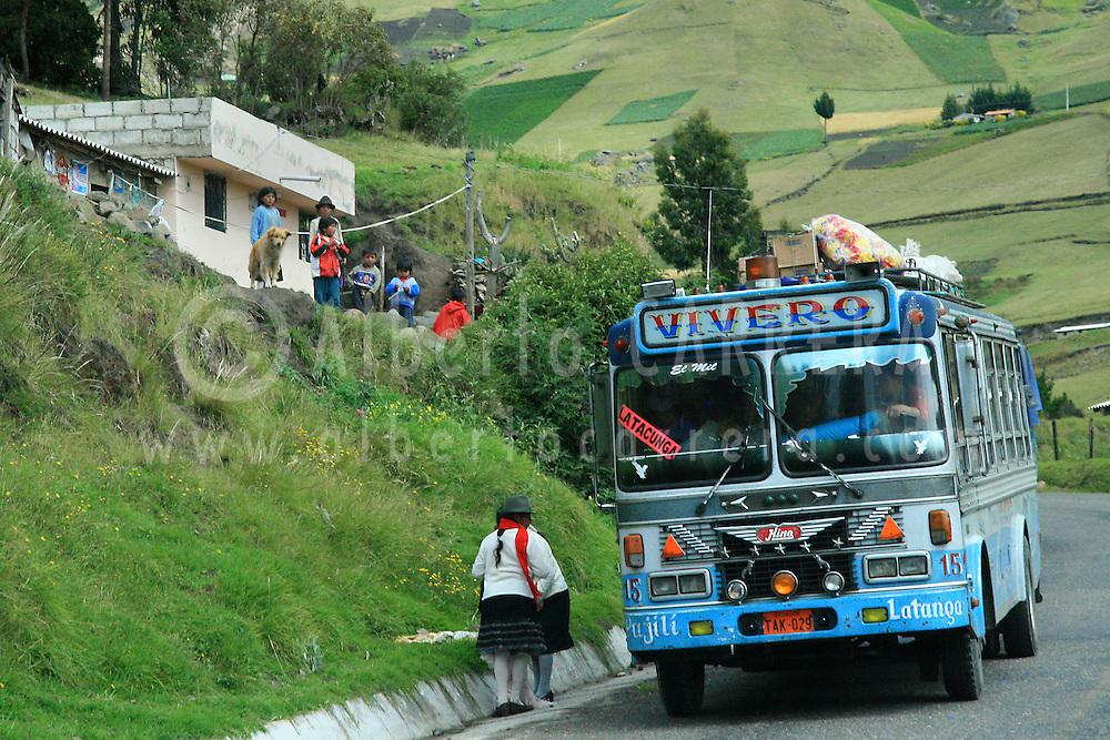 Alberto Carrera, Road Scene, Latacunga-Pujilí, Ecuador, South America, America