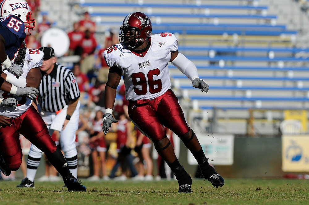 December 4, 2010: John Clark of the Troy Trojans in action during the NCAA football game between Troy and the Florida Atlantic Owls. The Trojans defeated the Owls 44-7.