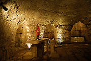 Shrine in Crypt below the Cathedral of Saint Mary. Diocletian Palace, Split, Croatia