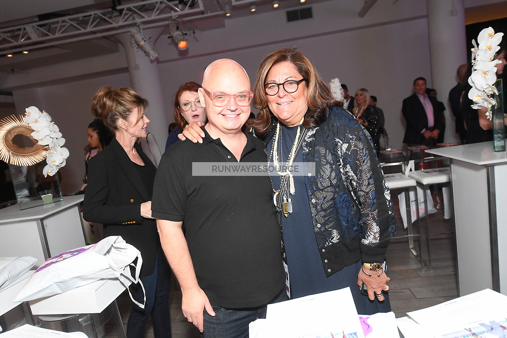 Mickey Boardman and Fern Mallis attend Klarna STYLE360 NYFW Hosts S by Serena Fashion Show