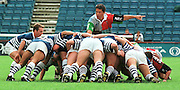 Twickenham, GREAT BRITAIN, Quins' Zinzan Brooke, direct the scrum during the Harlequins vs Sale Sharks, rugby match played at the Stoop ground. England.[Mandatory Credit; Peter Spurrier; Intersport Images]