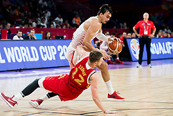 Andrey Zubkov of Russia vs Dario Saric of Croatia during basketball match between National Teams of Croatia and Russia at Day 11 in Round of 16 of the FIBA EuroBasket 2017 at Sinan Erdem Dome in Istanbul, Turkey on September 10, 2017. Photo by Vid Ponikvar / Sportida