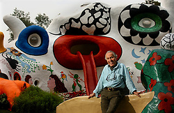 KNOKKE, BELGIUM - JULY-28-2005 - Roger Nellens and the Dragon House - The Dragon House was designed and built by Niki de Saint Phalle and Jean Tinguely on the Roger Nellens estate in Knokke-Zoute. The house was originally built as a play house for Roger Nellens children. (Photo © Jock Fistick)