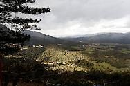 Corsica. France. Sartene, view on the rizzaneze valley from the garden of the family house of Claudine CH.,   Corsica south  France   / Sartene , vue sur la valle du rizaneze depuis le jardin de la maison de Claudine CH.,   Corse du sud  France