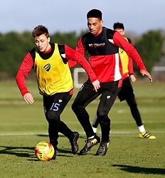 Luke Freeman and Zak Vyner of Bristol City take part in training - Mandatory by-line: Robbie Stephenson/JMP - 19/01/2017 - FOOTBALL - Bristol City Training Ground - Bristol, England - Bristol City Training