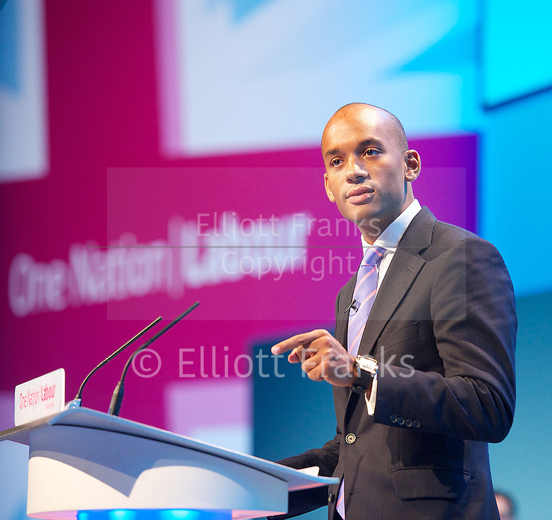 Labour Party Conference<br /> day 2<br /> Brighton Centre, Brighton,  Sussex, Great Britain <br /> 23rd September 2013 <br /> <br /> <br /> <br /> Work &amp; Business<br /> Rebuilding our Economy <br /> <br /> Chuka Umunna<br /> <br /> <br /> Photograph by Elliott Franks <br /> contact:<br /> Tel: 07802 537 220 <br /> email: elliott@elliottfranks.com<br /> www.elliottfranks.com<br /> <br /> Agency space rates apply <br /> editorial use only <br /> 2013 &copy; Elliott Franks