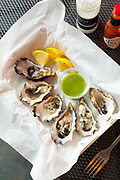 1/2 dozen petite Netarts Oysters at Source in Garibaldi Oregon