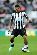 Kenedy (#15) of Newcastle United in action during the Premier League match between Newcastle United and West Bromwich Albion at St. James's Park, Newcastle, England on 28 April 2018. Picture by Craig Doyle.