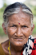 THIMMAMMA MARRIMANU, INDIA - 25th October 2019 - Portrait of a local to Thimmamma village in Andhra Pradesh, South India. Thimmamma Marrimanu is home to the world's largest single tree canopy.