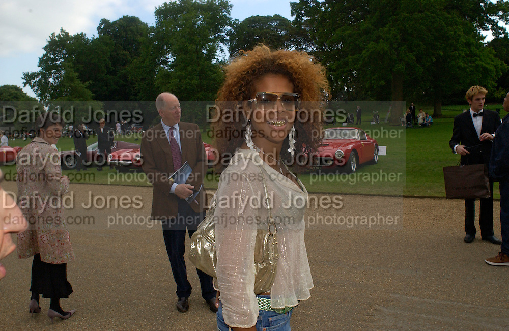Kelis and Lord Rothschild, Louis Vuitton classic and celebration of their 150 anniversary. Waddesdon Manor, June 4 2004. ONE TIME USE ONLY - DO NOT ARCHIVE  © Copyright Photograph by Dafydd Jones 66 Stockwell Park Rd. London SW9 0DA Tel 020 7733 0108 www.dafjones.com